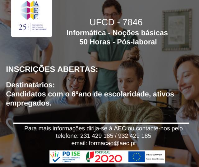 """UFCD - 7846 """"Informática noções básicas"""""""