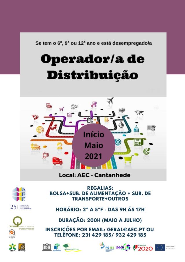 """Formação para desempregados """"Operador/a de distribuição"""""""