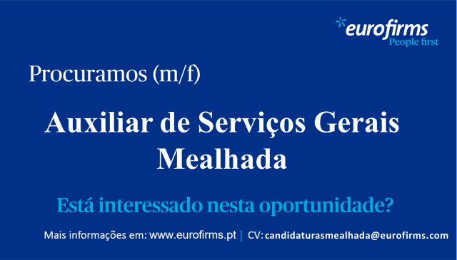 Auxiliar serv gerais - Mealhada